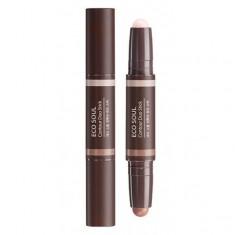стик для контурного макияжа the saem eco soul contour duo stick
