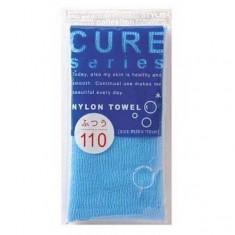 мочалка для тела средней жесткости (синяя) o:he cure nylon towel regular blue