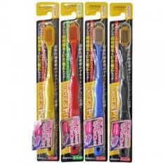 зубная щетка с широкой чистящей головкой и супертонкими щетинками japan create co  dentfine tapered