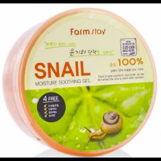 многофункциональный смягчающий гель с экстрактом слизи улитки farmstay moisture soothing gel snail