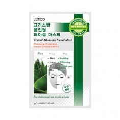 маска тканевая c алое mijin junico crystal all-in-one facial mask aloe