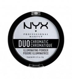 NYX PROFESSIONAL MAKEUP Сухой хайлайтер Duo Chromatic Illuminating Powder - Twilight Tint 01
