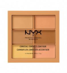 NYX PROFESSIONAL MAKEUP Палетка для коррекции Conceal, Correct, Contour Palette - Medium 302
