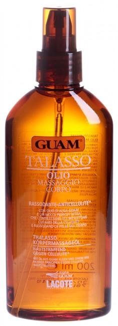 GUAM Масло массажное антицеллюлитное подтягивающее для тела / TALASSO 200 мл