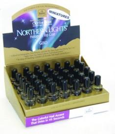 INM Сушка-закрепитель лака голографическая, золото / Northern Lights Gold 3,5 мл
