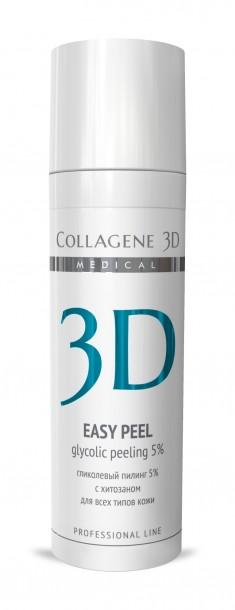 MEDICAL COLLAGENE 3D Гель-пилинг с хитозаном, на основе гликолевой кислоты 5% (pH 3,2) / Easy Peel 30 мл проф.