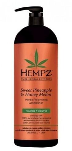 HEMPZ Кондиционер растительный для придания объема, ананас и медовая дыня 1000 мл