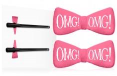 DOUBLE DARE OMG! Заколки для фиксации волос во время косметических процедур, ярко-розовые / SPA