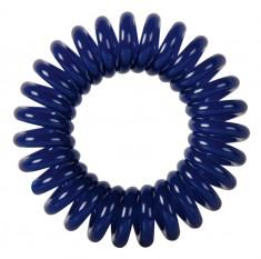 DEWAL BEAUTY Резинки для волос Пружинка, цвет темно-синий 3 шт