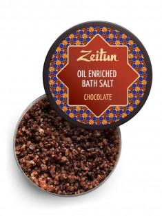 Шоколадная ароматическая соль для ванн с маслом плодов какао и ванилью