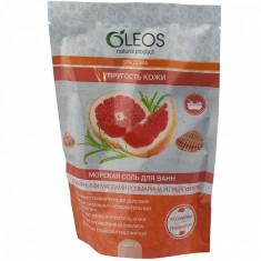 Олеос морская соль для ванн Упругость кожи с эфирными маслами розмарина и грейпфурта 500гр Oleos