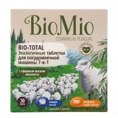 BIOMIO BIO-TOTAL таблетки для посудомоечной машины с эфирным маслом эвкалипта 30шт