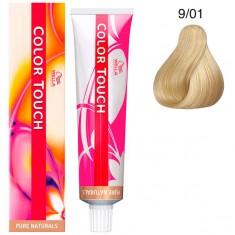 Wella Color Touch Тонирующая крем-краска без аммиака 9/01 очень светлый блонд песочный 60мл