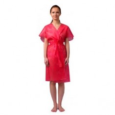 Халат-кимоно без рукавов, розовый, 10 шт. (Чистовье) ЧИСТОВЬЕ