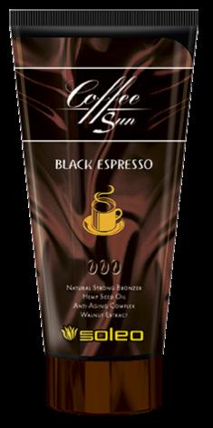 SOLEO Бронзатор максимальный натуральный с запахом кофе эспрессо / Coffe Sun Black Espresso 150 мл