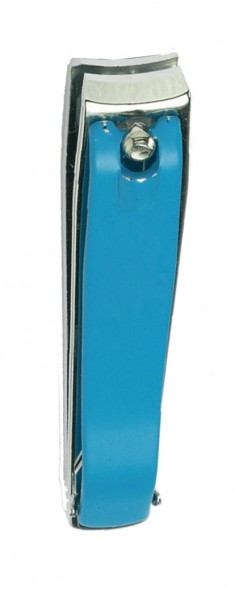 SAM Кусачки для ногтей маникюрно-педикюрные, бирюзовые 8 см
