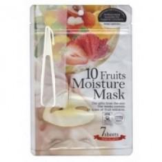 Japan Gals - Маски для лица с экстрактом 10 фруктов, 7 шт.