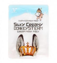 Маска с паровым кремом из молока ослиц ELIZAVECCA Silky Creamy Donkey Steam Cream Mask Pack