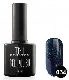 TNL PROFESSIONAL 034 гель-лак для ногтей, королевский синий с блестками 10 мл