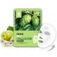 маска для лица тканевая с экстрактом нони berrisom g9 skin noni biocellulose mask