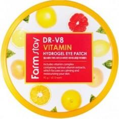 гидрогелевые патчи с витаминами farmstay dr-v8  vitamin hydrogel eye patch