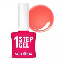 SOLOMEYA Гель-лак однофазный для ногтей, 8 коралл / One Step Gel Сoral 5 мл