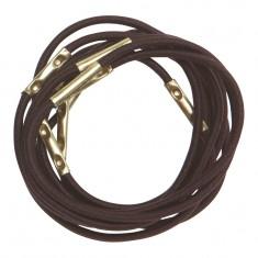 DEWAL PROFESSIONAL Резинки для волос коричневые midi 10 шт/уп