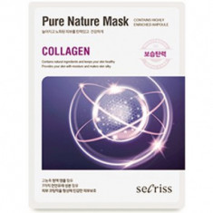 Маска для лица тканевая Anskin Secriss Pure Nature Mask Pack- Collagen 25мл