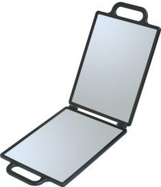 DEWAL PROFESSIONAL Зеркало заднего вида с двумя ручками, складное, пластик, черное 23х30 см