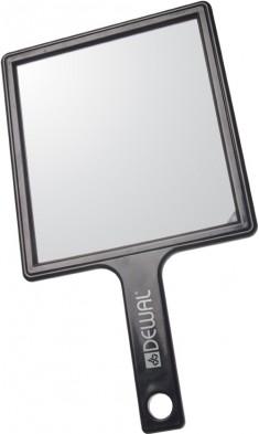 DEWAL PROFESSIONAL Зеркало заднего вида с ручкой, пластик, черное 21,5х23,5 см