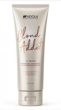 Шампунь оттеночный Indola Blond Addict Pinkrose Shampoo 250мл