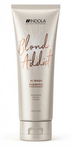 Шампунь для всех типов волос блонд Indola Blond Addict Shampoo 250мл