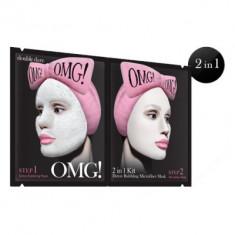 Маска двухкомпонентная для глубокого очищения и питания кожи лица Double Dare OMG! Detox Bubbling Microfiber Mask