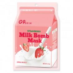 Маска для лица тканевая Berrisom G9 SKIN MILK BOMB MASK-Strawberry 21мл