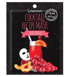 Тканевая маска-коктейль Персиковый пунш Berrisom Cocktail Recipe Mask Peach Crush 20г