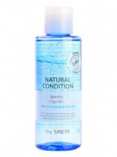 Средство двухфазное для снятия макияжа с термальной водой THE SAEM Natural Condition Sparkling Lip & Eye Remover 155мл