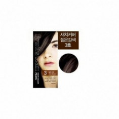 Краска для волос на фруктовой основе Fruits Wax Pearl Hair Color #03 60мл*60гр WELCOS