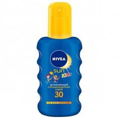 Нивея Сан Кидс спрей солнцезащитный цветной SPF30 200мл NIVEA