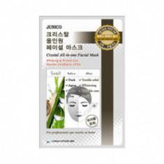 Маска тканевая с улиточным муцином Mijin Junico Crystal All-in-one Facial Mask Snail 25гр