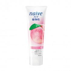 Kracie Naïve Пенка для умывания с экстрактом листьев персикового дерева, 130 гр