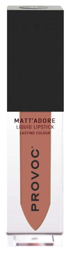 PROVOC Помада жидкая матовая для губ, 10 бежевый / MATTADORE Liquid Lipstick Clarity 5 г