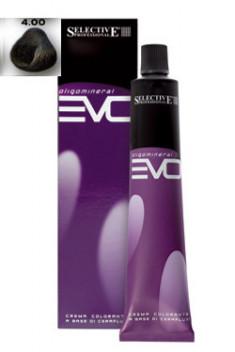 SELECTIVE PROFESSIONAL 4.00 краска для волос, каштановый интенсивный / COLOREVO 100 мл