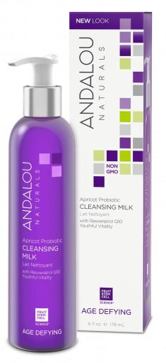 ANDALOU NATURALS Молочко очищающее с комплексом пробиотиков и маслом абрикоса 178 мл