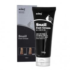 Kims, Крем для ног Snail, 100 мл