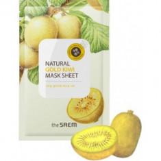 Маска тканевая с экстрактом киви The Saem Natural Gold Kiwi Mask Sheet 21мл