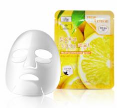 Тканевая маска для лица с экстрактом лимона 3W CLINIC Fresh Lemon Mask Sheet 23мл