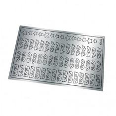 Freedecor, Металлизированные наклейки №184, серебро