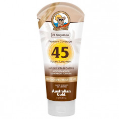 Australian Gold SPF Солнцезащитный Лосьон для лица Premium Coverage SPF45 Sheer Faces with bronzer 88 мл