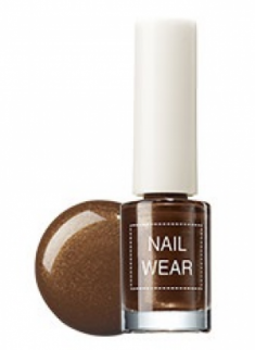 Лак для ногтей THE SAEM Nail wear 17. Brown turtleneck 7мл