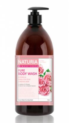 Гель для душа РОЗА и РОЗМАРИН EVAS NATURIA PURE BODY WASH Rose & Rosemary 750 мл
